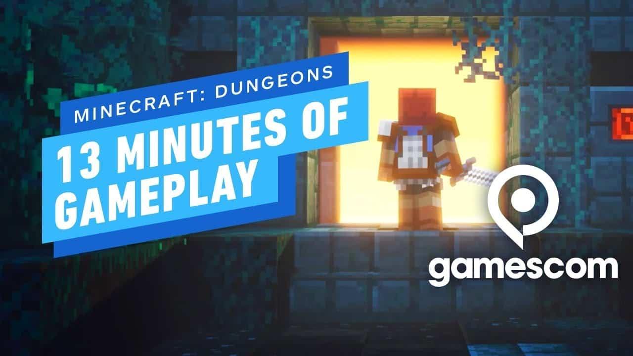 Minecraft Dungeons Gameplay Gamescom 2019 Minecraft